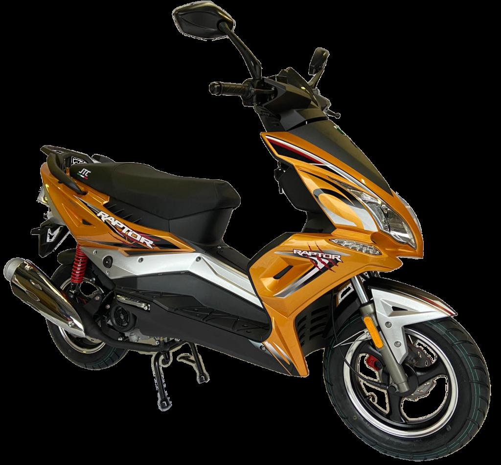 JTC raptor geel scooter 50 cc A en B klasse