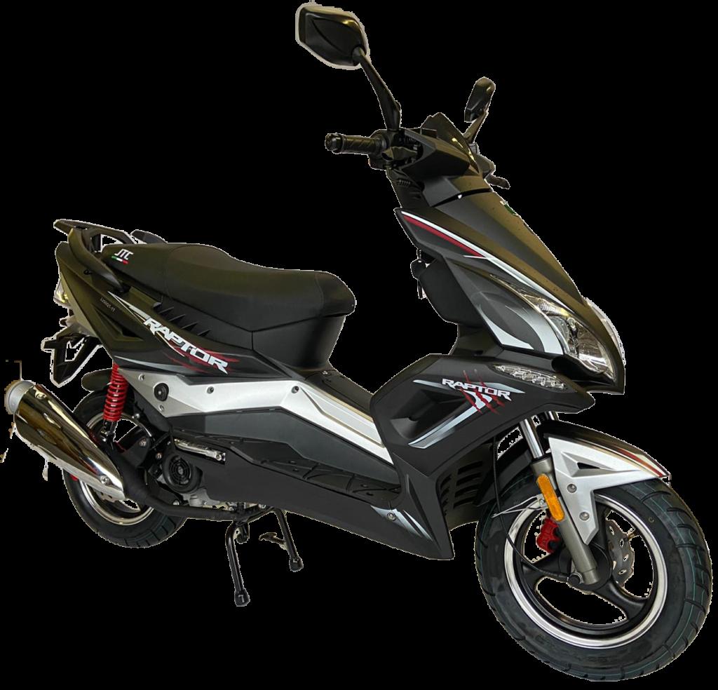 JTC raptor zwart scooter 50 cc A en B klasse