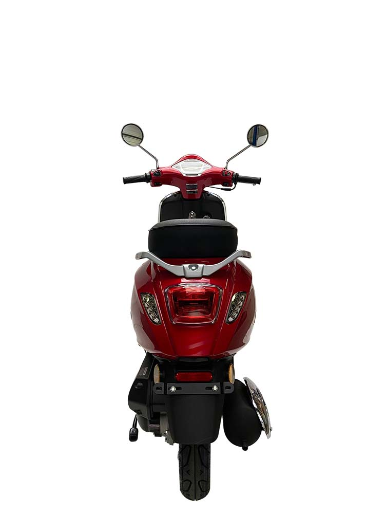 JTC Milano 50cc rood achterkant
