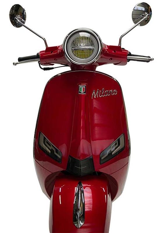 JTC Milano 50cc rood voorkant