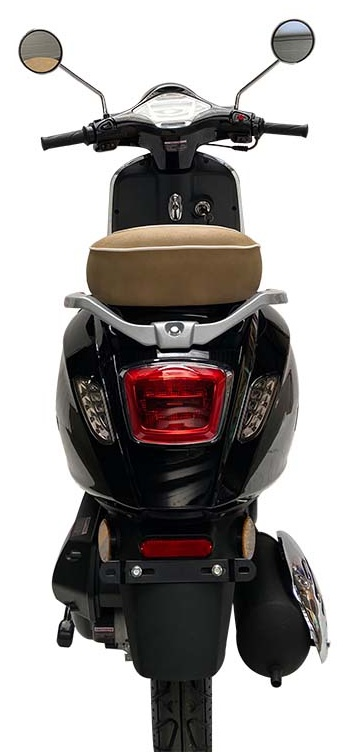 JTC Milano 50cc zwart achterkant