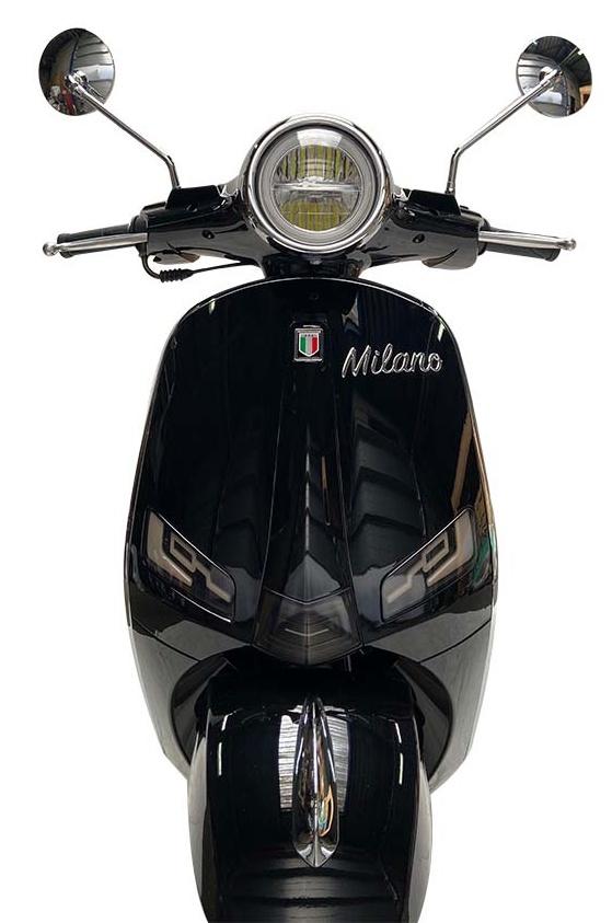 JTC Milano 50cc zwart voorkant